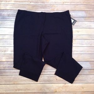 Who What Wear 24W black skinny stretchy crop pants